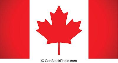 kanada, flag., wektor, illustration.