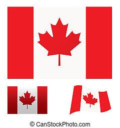 kanada flagg, sätta