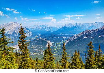 kanada, góra, banff, skala, alberta, siarka, prospekt