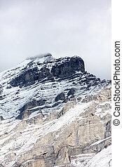 kanada, górski szczyt, banff, kaskada