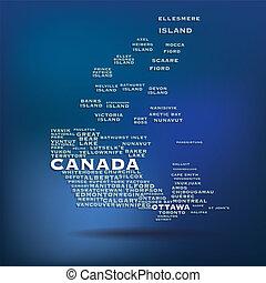 kanada karte, begriff