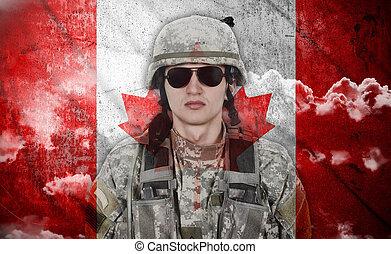 kanada, katona, lobogó