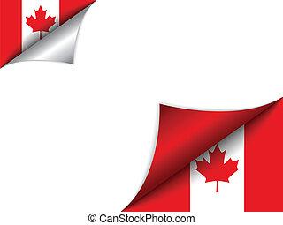 kanada, land, fahne, drehen seite
