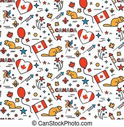 kanada, mönster, july., seamles, 1, dag
