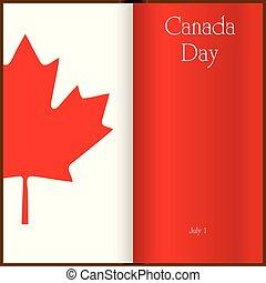 kanada, medborgare, -, dag