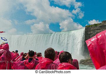 kanada, ontario, niagara vattenfallen, turist