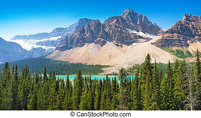 kanada, sceniczny, krajobraz, alberta