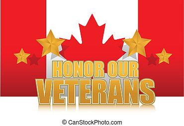 kanada, unser, veteranen, ehre, gold