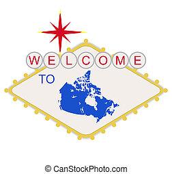 kanada, willkommenes zeichen