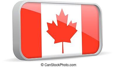 kanada, zeichen., vektor, fahne, freigestellt