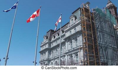 kanadier, flaggen