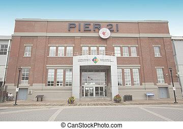 kanadier, museum, von, einwanderung, an, pier, 21, halifax,...