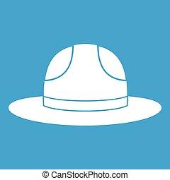 kanadský, klobouk, ikona, neposkvrněný