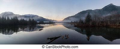 kanadyjczyk, natura krajobraz, panoramiczny, antena