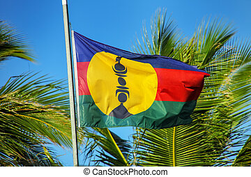 Kanak flag of the independence movement, New Caledonia