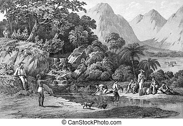 Kanaka Village, Bonin Islands, Japan - Expedition of an...