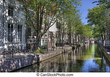 kanal, amsterdam, ruhig