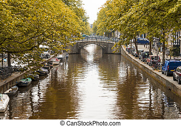 kanal, in, amsterdam