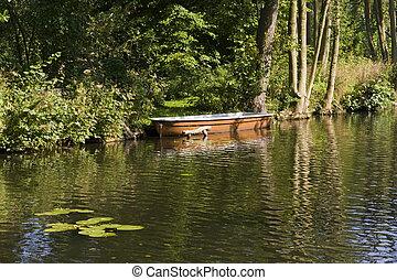 kanal, in, brandenburg, deutschland