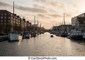 kanal, stadt, kopenhagen