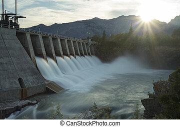 kananaskis, ダム, 電気である, mw5, hydro