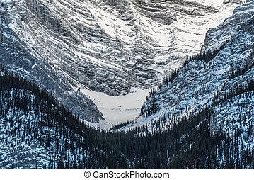 Kananaskis Country in winter time, Alberta, Canadae