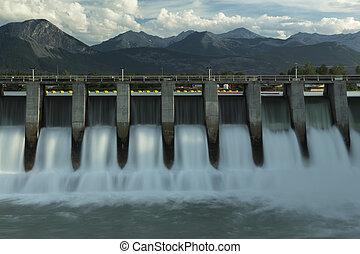 kananaskis, fördämning, hydro elektriska, m2