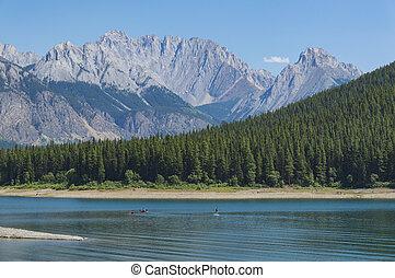 Kananaskis Lake in Rocky Mountains Alberta Canada