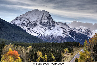 kananaskis, montañas, rocoso, alberta