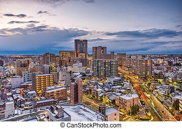 kanazawa, ιαπωνία , γραμμή ορίζοντα