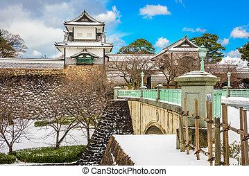 kanazawa, κάστρο , ιαπωνία