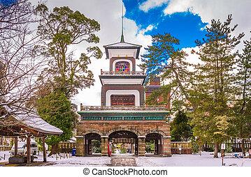 kanazawa, japão, templo