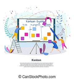 kanban, 人們, 系統, 微小, 項目管理