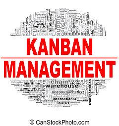 kanban, 管理, 単語, 雲