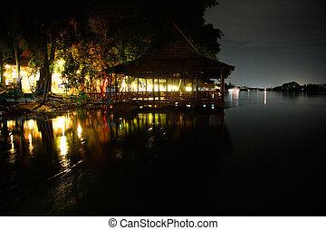 Kanchanaburi in the night