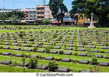 kanchanaburi, krieg- kirchhof, thailand