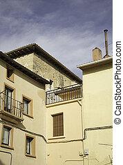 kandalló, épület, öreg