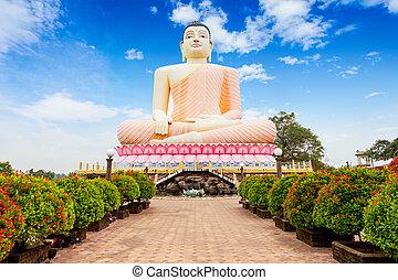 Kande Vihara Temple, Bentota - Big Buddha statue at the...