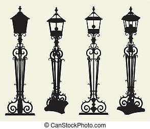 kandelabry, uliczne światło