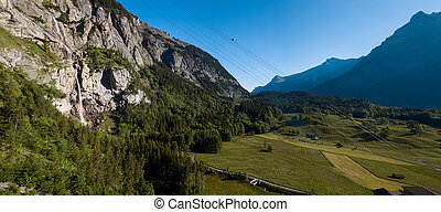 Kandersteg - amazing vacation destination in the Swiss Alps, Switzerland