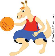 kangaroo - basketball player