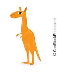 kangaroo., dessin animé