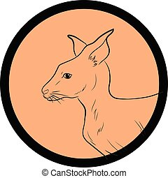 Kangaroo Face Closeup Vector