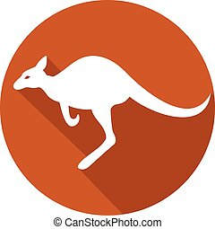kangaroo flat icon