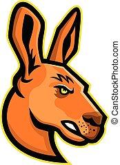 kangaroo-head-side-mascot
