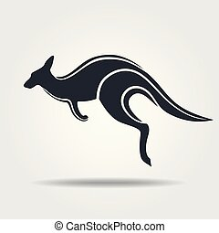 Kangaroo icon isolated on a white background