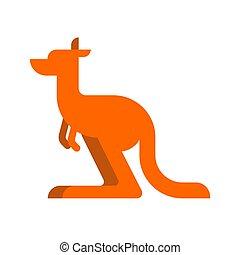 Kangaroo isolated cartoon. Australia animal. Vector illustration