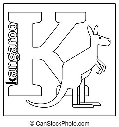 Kangaroo Coloring Page Kangaroo Line Art Design For Coloring Book