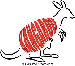 kangaroo LETTERING ILLUSTRATION