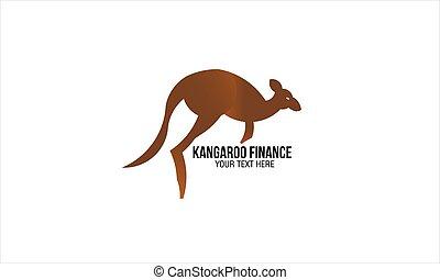 kangaroo logo kangaroo athlete sign isolated on white background